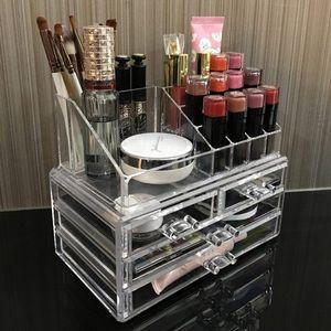Clear acrylic makeup storage